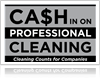 professional cleaning logo